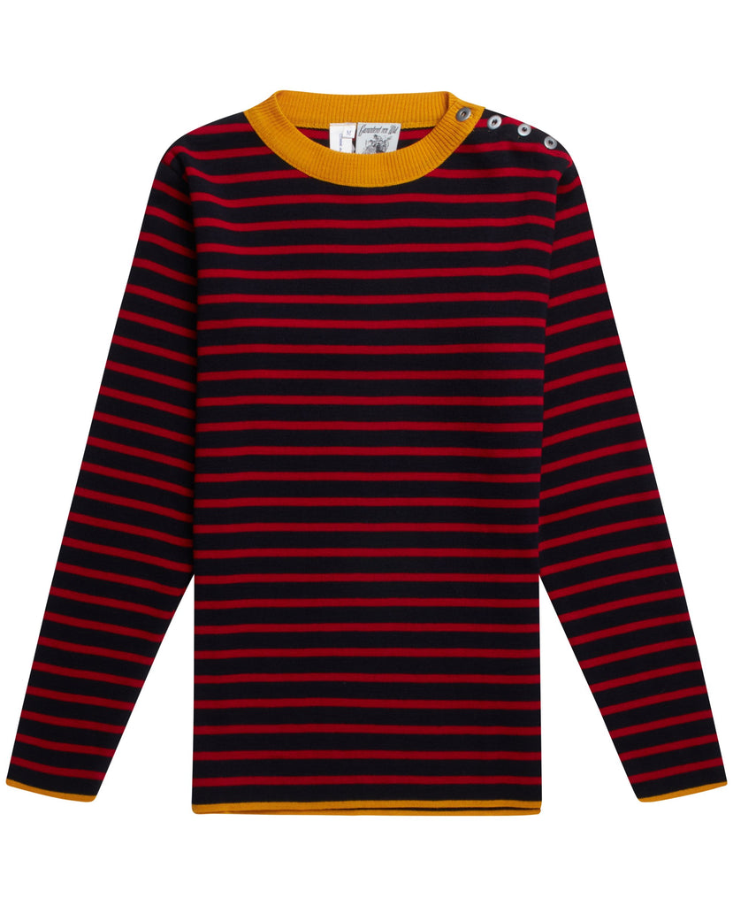 CDG x SNS NAVAL crew neck<br>navy blue / red