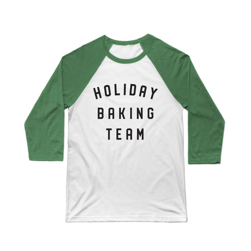 Holiday Baking Team Baseball T-Shirt, Green