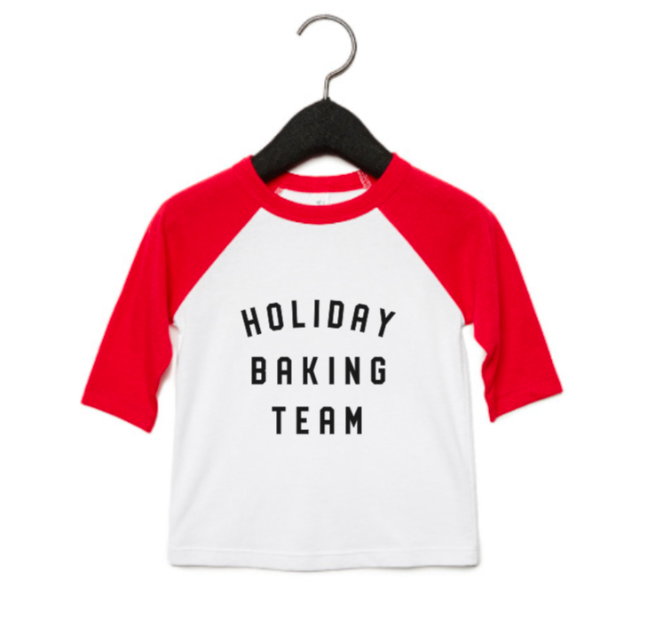 Holiday Baking Team Baseball T-Shirt, Youth