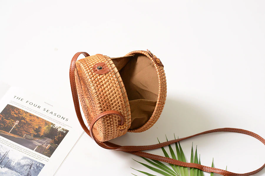 Womens Rattan bag USA