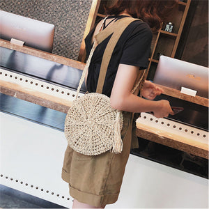 Rattan Cross Body Bag