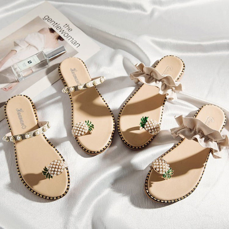 Elegant Fruity Pineapple Sandals