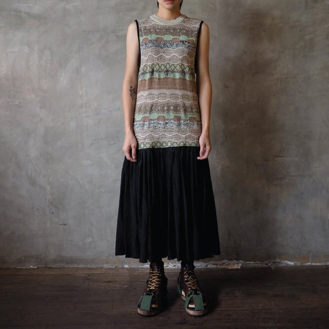 Reconstructed Long Knitting Dress
