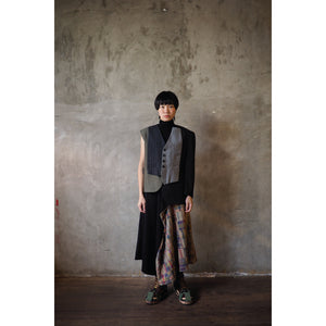 #07 Reconstructed Asymmetric Sleeves Coat