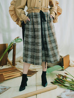 Adjustable Checks Skirt