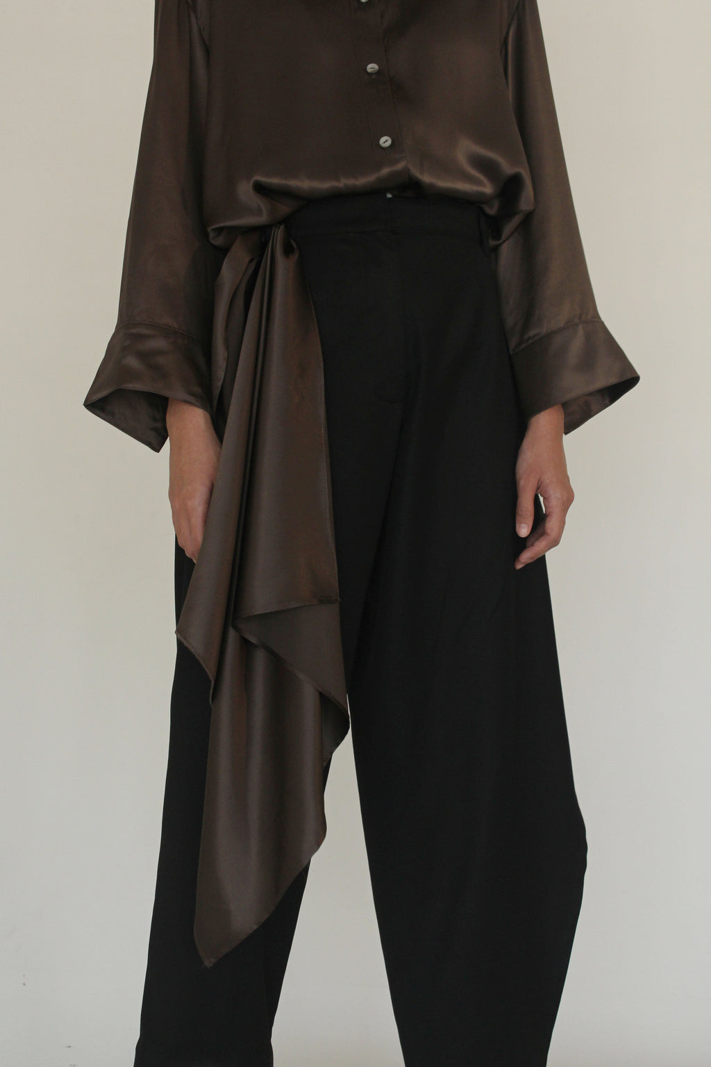 Asymmetrical Open Panel Pants