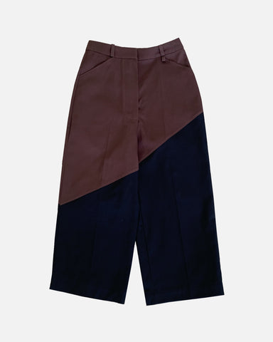 Bicolour Pants (RedBrown/Black)