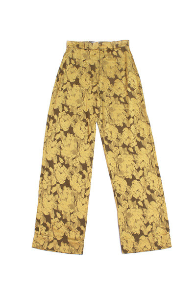 Straight Floral Trousers