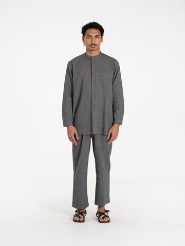 Jagat Mandarin Shirt (Dark Grey)