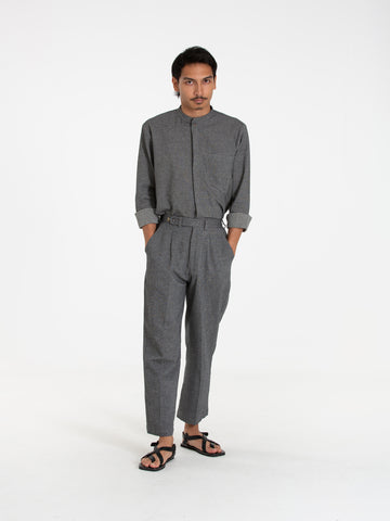 Jagat Tailored Pants (Dark Grey)