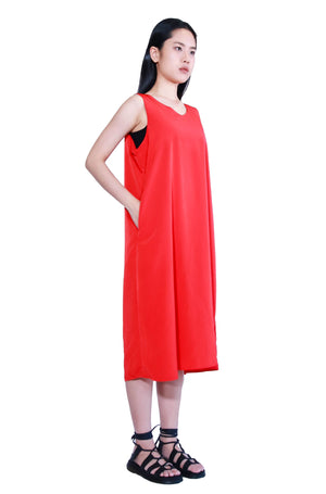 Draping Sleeveless Long Dress