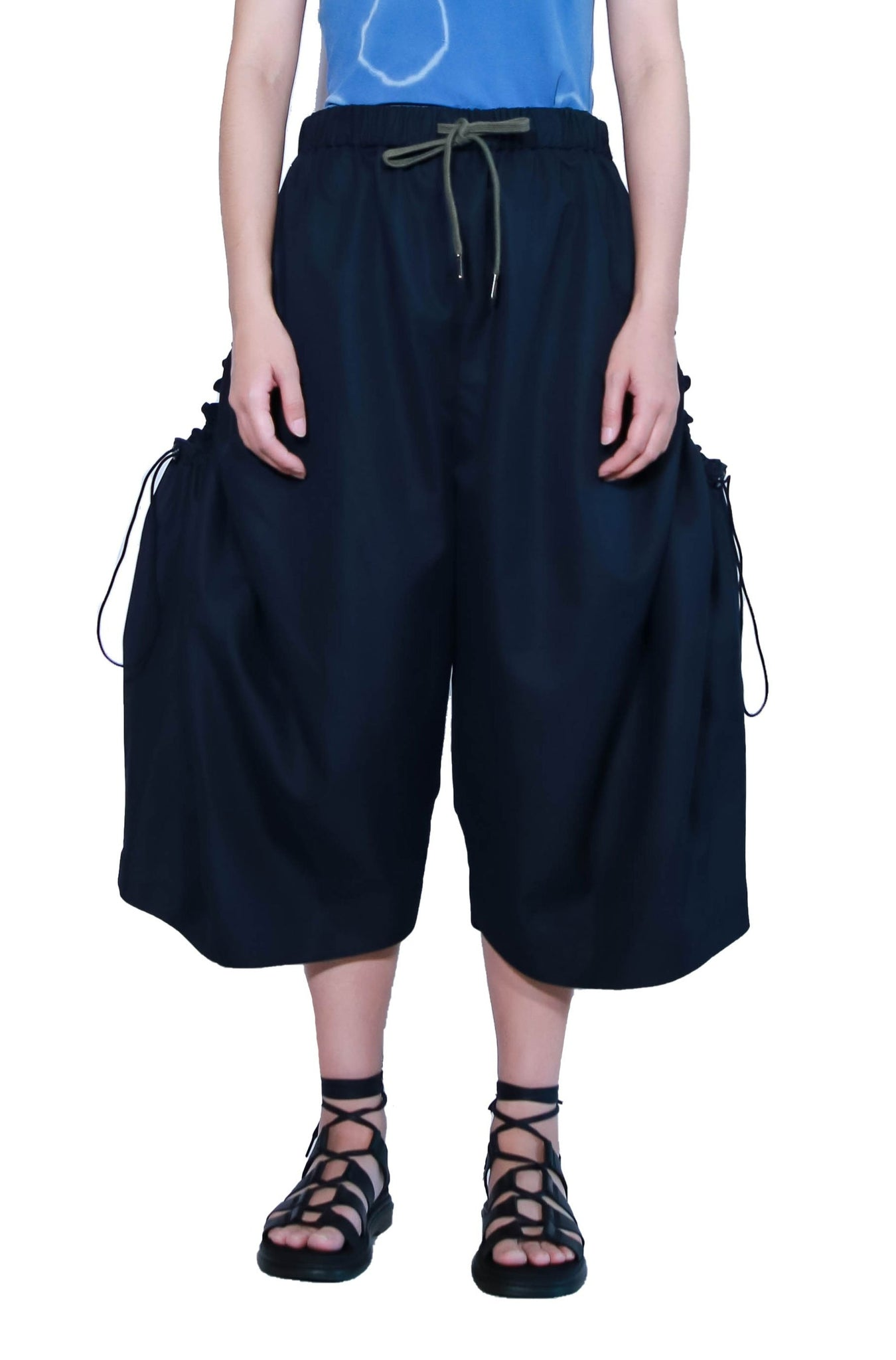 Nepenthes Oversized Pockets Drawstring Pants