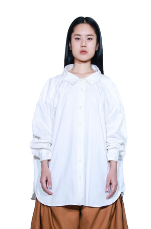 White Magnolia Giant Collar Shirt