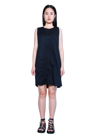 Sleeveless Drawstring Top Dress