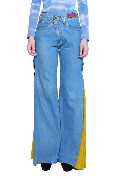 Reconstructed Levi's Side Pleated Pants