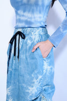 Drawstring Tie Dye Medium Skirt