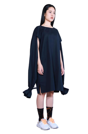 Black Guilleret Super Long Sleeves Top Dress