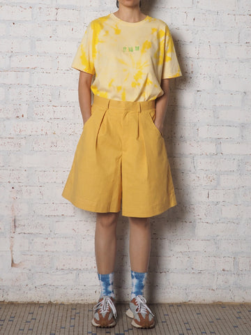 High Waist Shorts Pants - Yellow