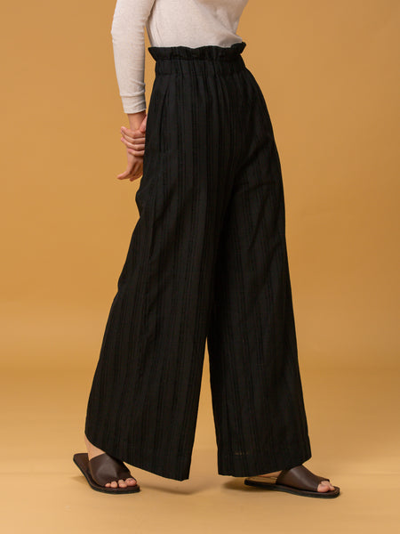Erat Paperbag Wide Pants (Black)