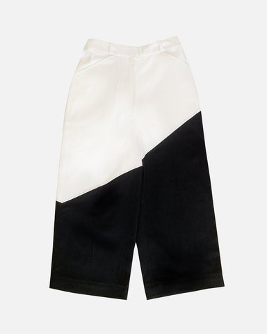 Bicolour Pants (White/Black)
