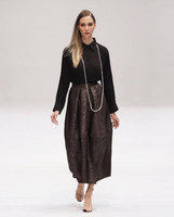 Dark Brown Art Deco Skirt