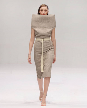 Brown Blanket Dress with Belt - Bev C