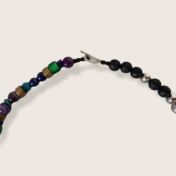 """OBS"" Lava Stone Raw Mixed Necklace"