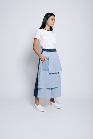 Denim Trousers with Pleats - Bev C