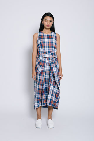 TARTAN APRON DRESS - Bev C