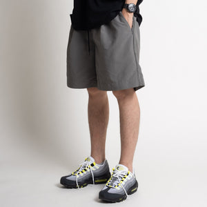 Pleated Shorts - Grey