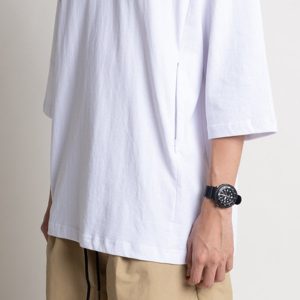 Zipped Pockets Tee - White