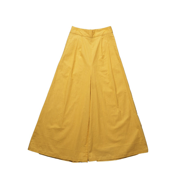 Long Wide Pants - Yellow