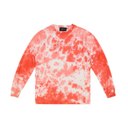 Tie Dye Long Sleeve - Solar Red