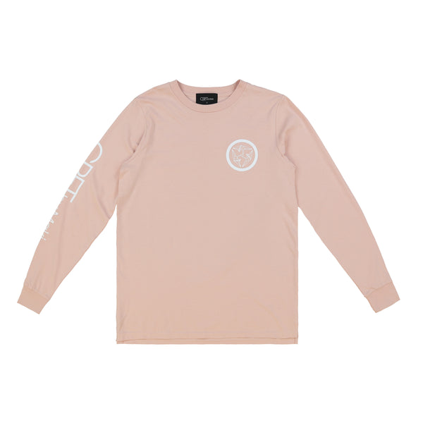 Kamon Long Sleeve Tee - Pale Pink
