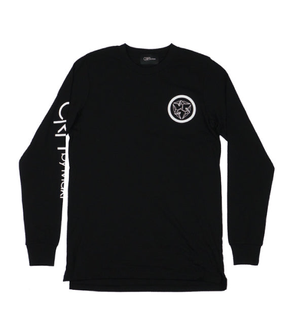 Kamon Long Sleeve Tee - Black