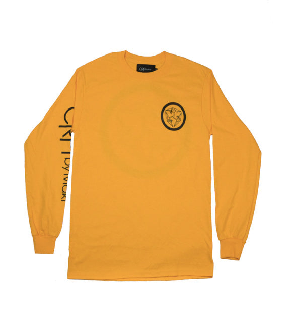 Kamon Long Sleeve Tee - Gold