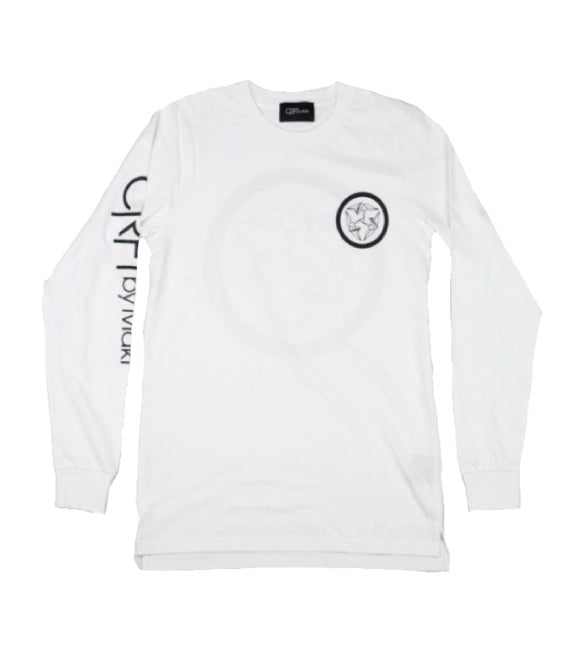 Kamon Long Sleeve Tee - White