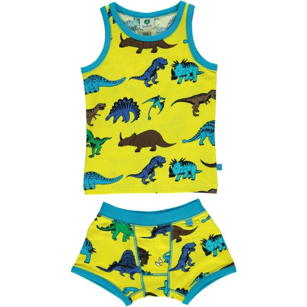 Småfolk- Underwear/PJs Dinosaur Yellow
