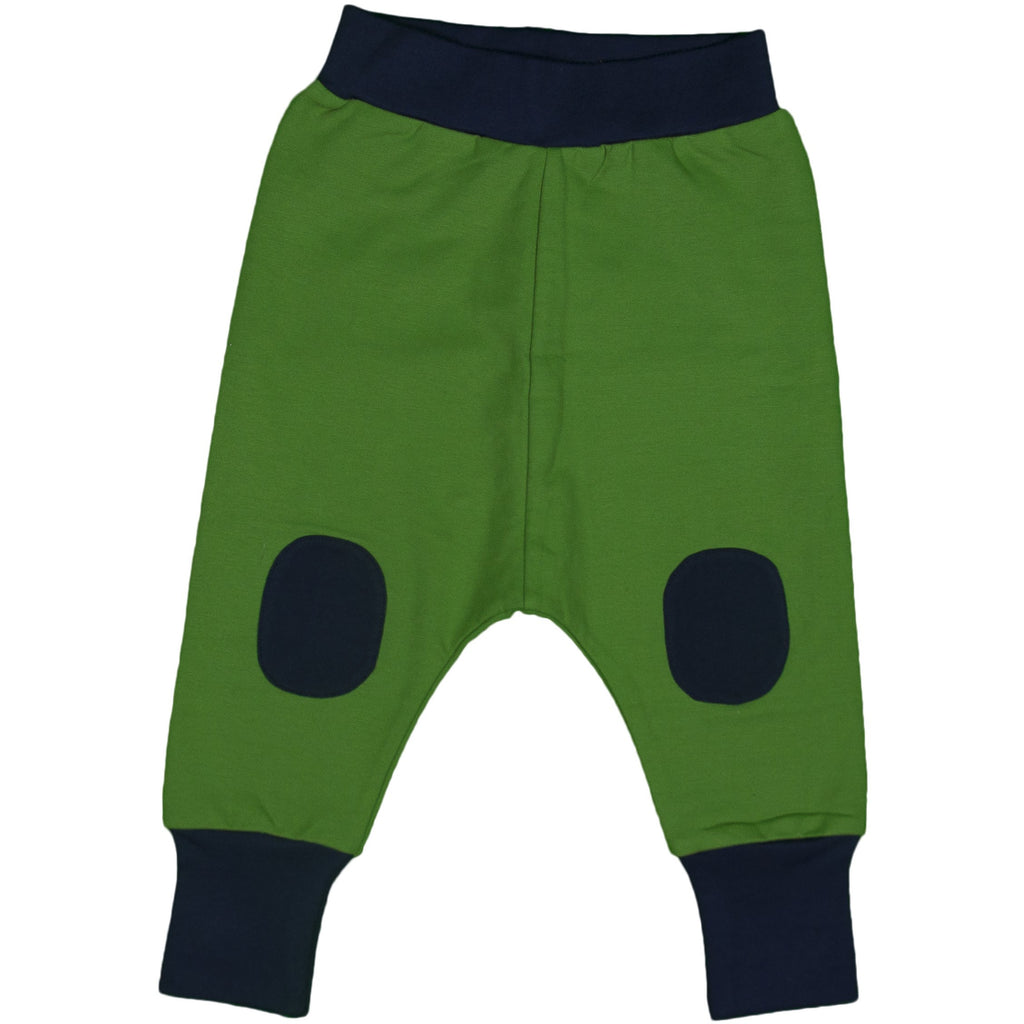 Moromini - Baggy Patch Pants Green with Navy patch