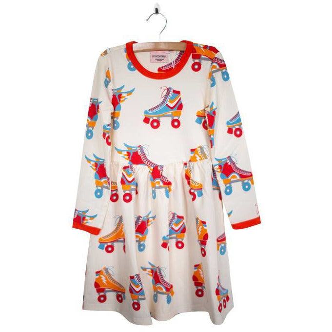Moromini - long sleeve twirly dress-roller disco