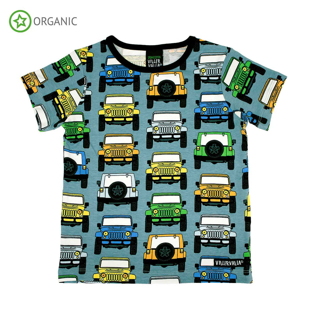 Villervalla - Car print Short Sleeve T-shirt