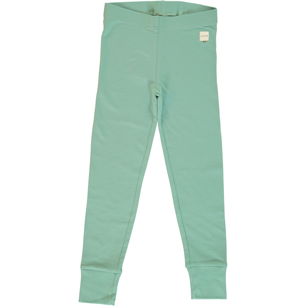 Maxomorra - Leggings Cuff Solid Soft Teal - PopSee Online