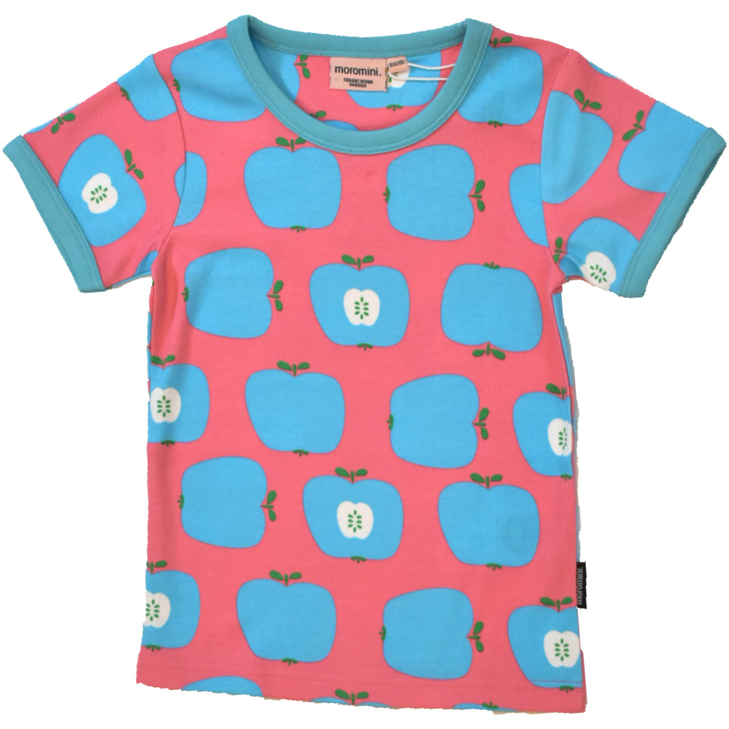 Moromini - Short Sleeve Top Blue apples (last one sz 4-5Y)