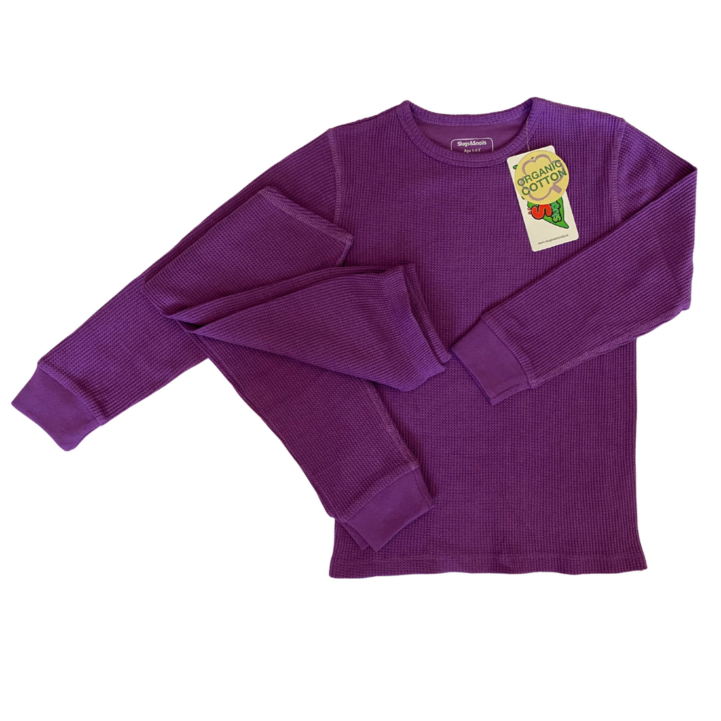 Slugs & Snails Basics - Waffle Top - Plum (last two, sz 5-6Y & 7-8Y)