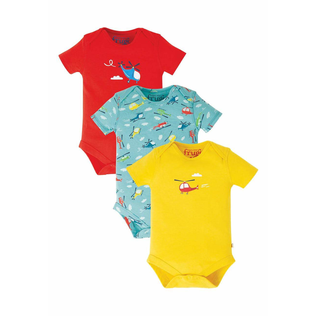 Frugi - Super Special 3 Pack Body (last one sz 3-6M)
