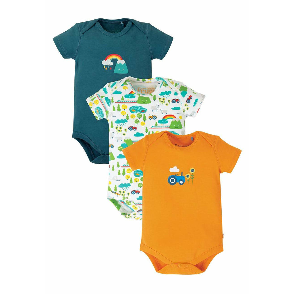 Frugi - Super Special 3 Pack Body - Rainbow