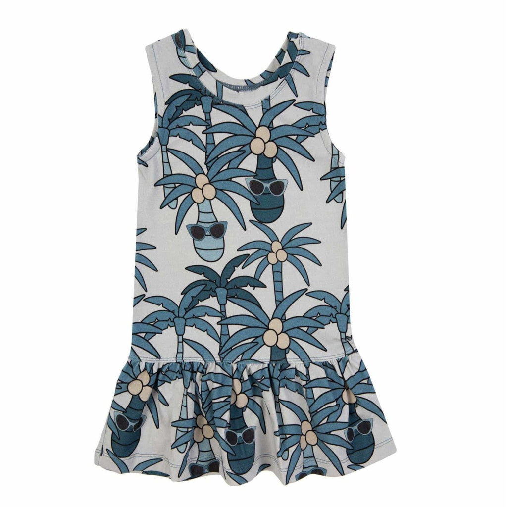 Dear Sophie  - Blue Palm Dress