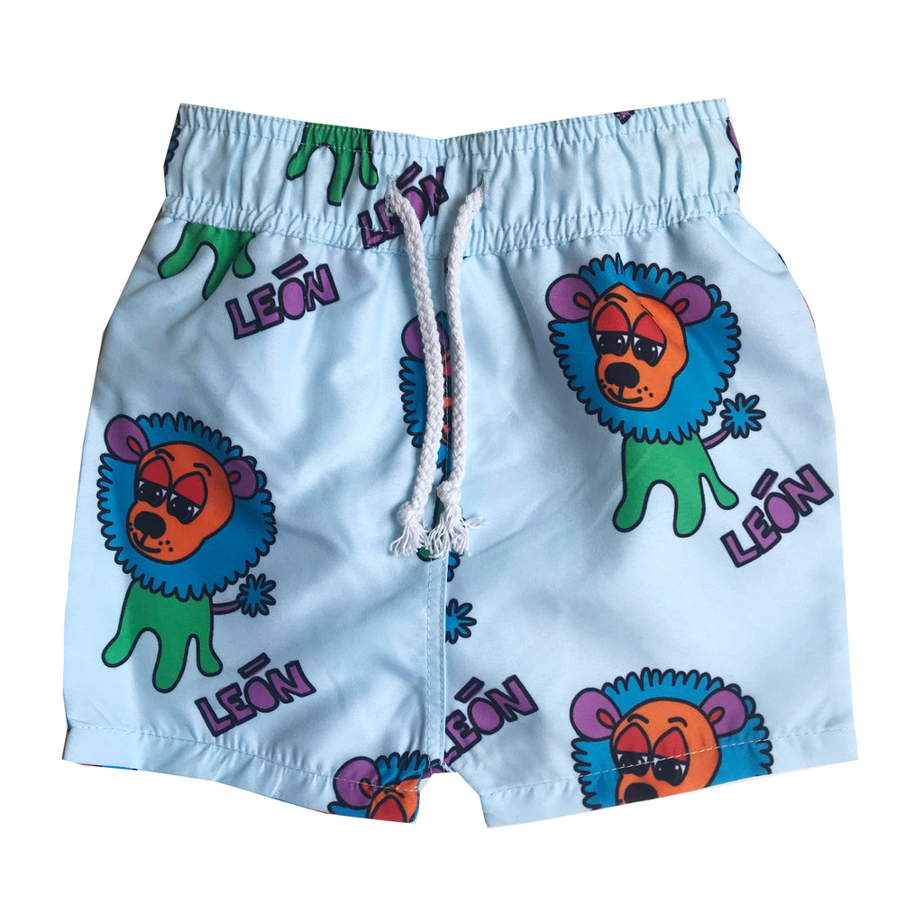 Banana Valentine - Swim Trunks - Blue Lions (last one sz 9-12M)