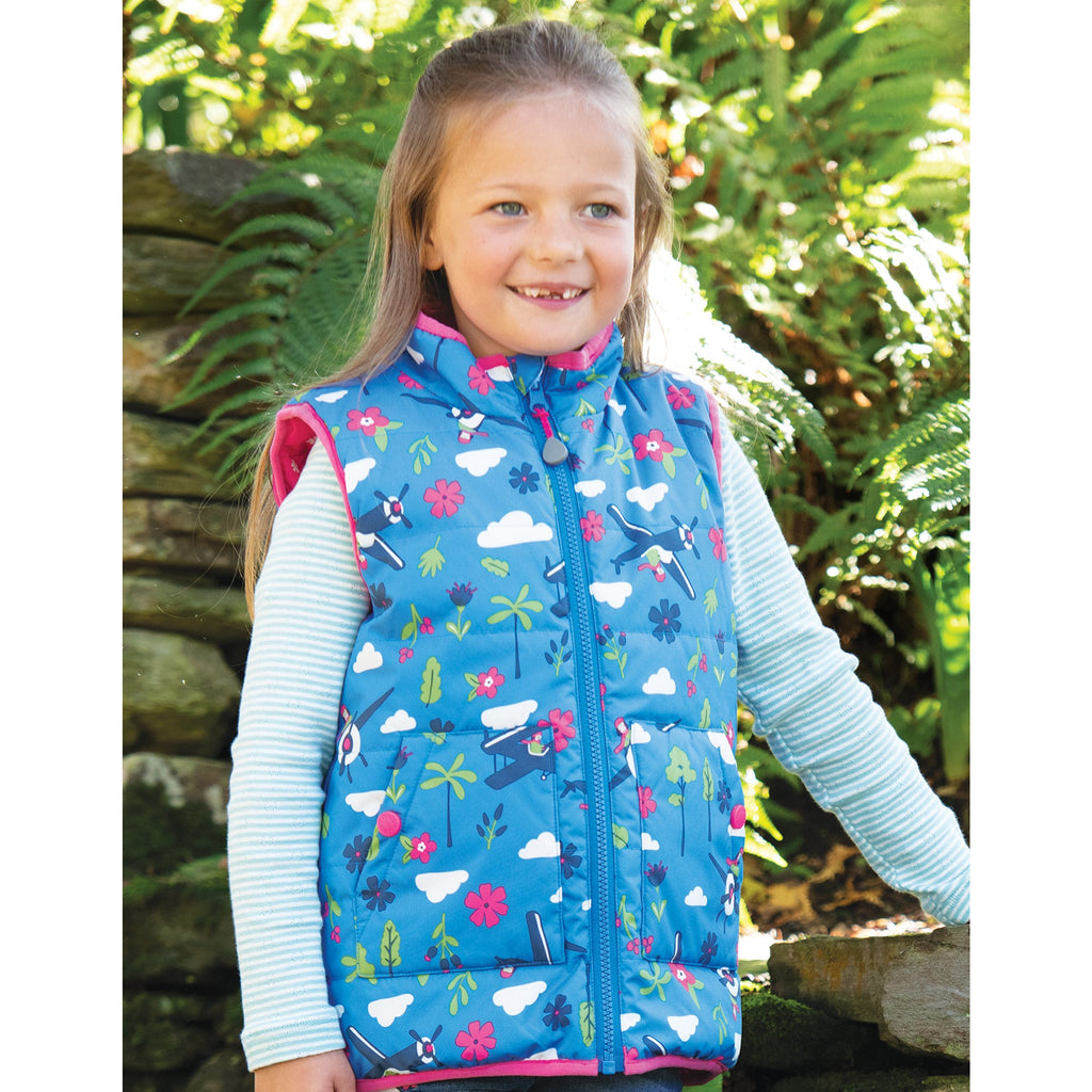 Frugi - Explorer Gilet Sail Blue Fly High - PopSee Online