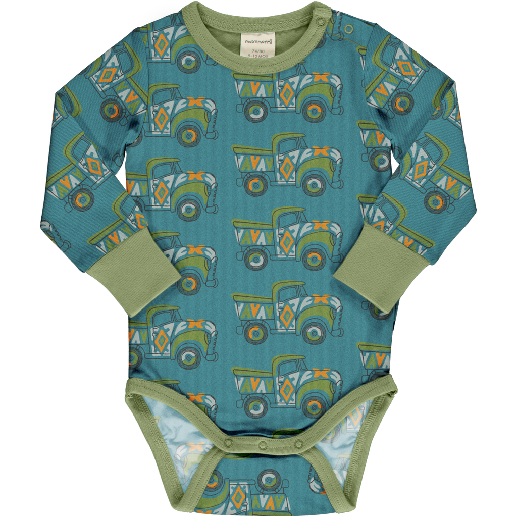 Maxomorra - Body Long Sleeve Painted Truck (last one sz 0-2M)